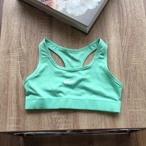 Nike mint green sports bra